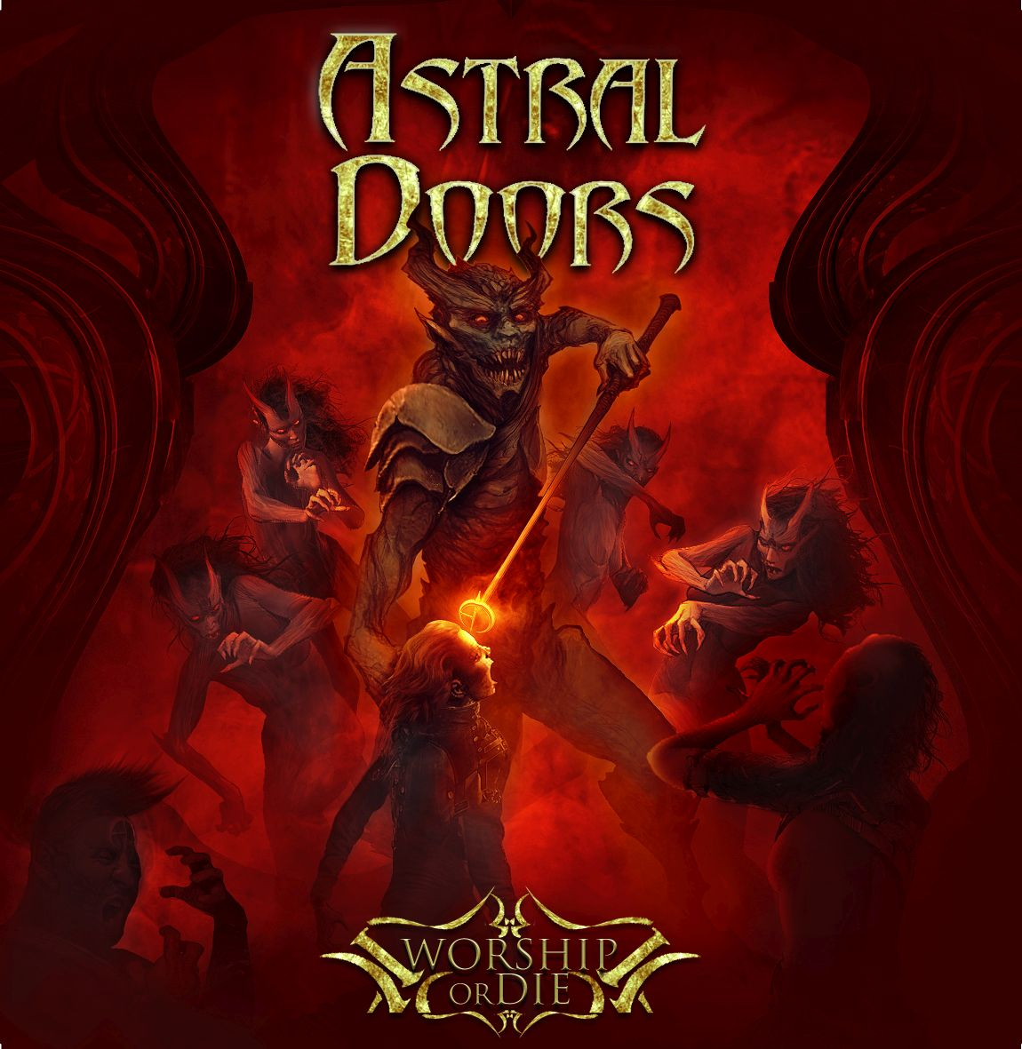 Astral Doors - Worship Or Die - Front Cover