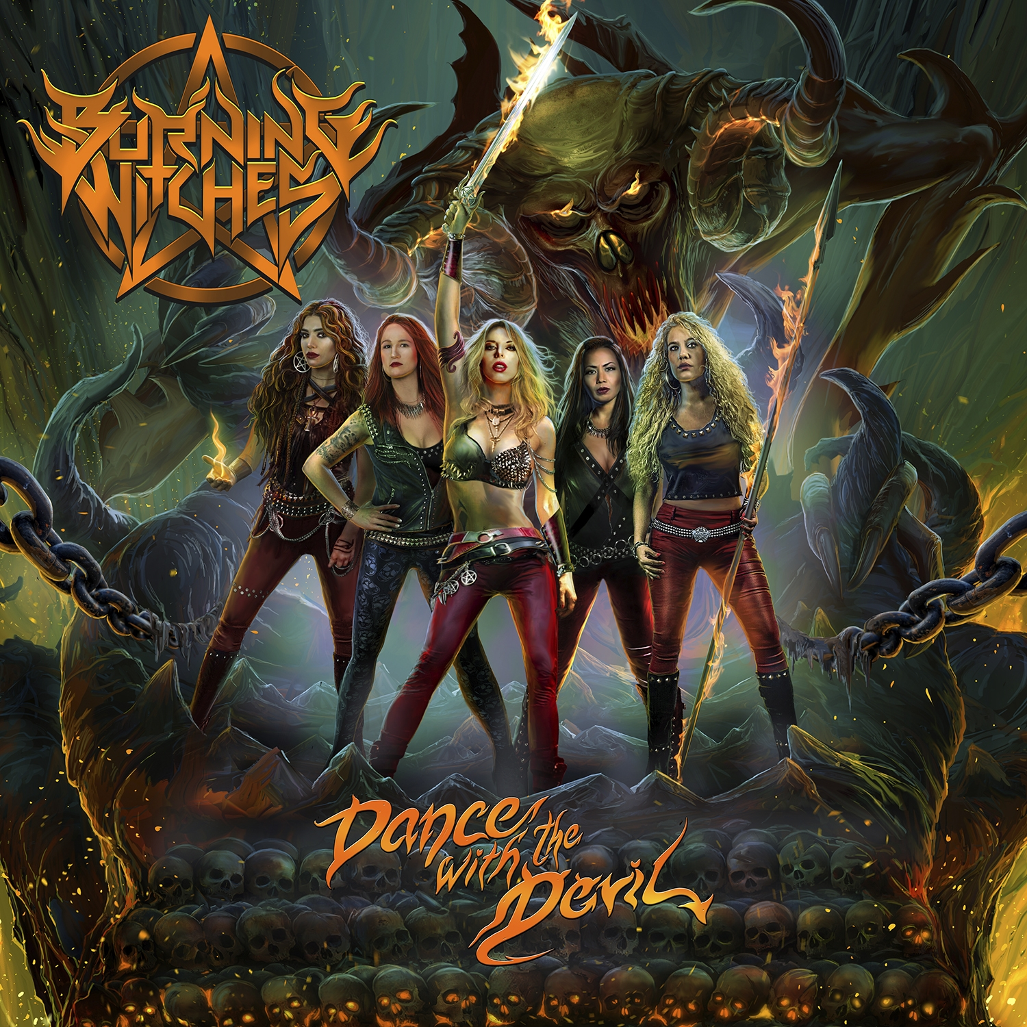 Burning Witches - Dance With The Devil - Artwork