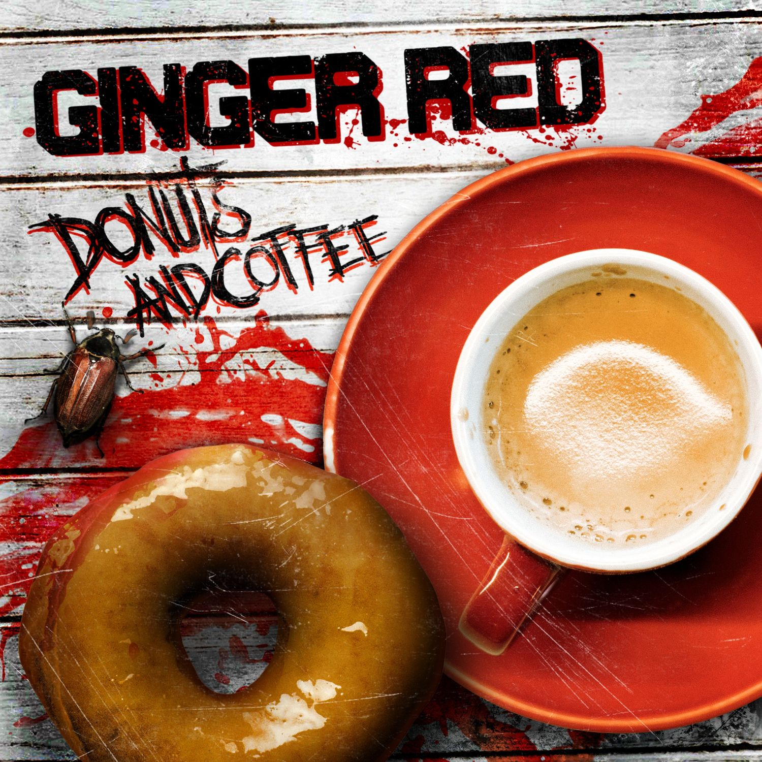 Ginger Red - Donuts And Coffee - Artwork